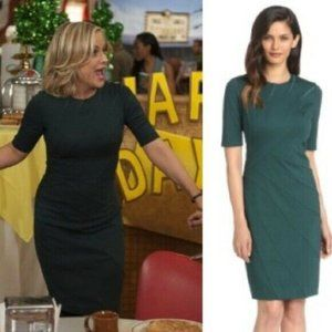 Ted Baker Corie Emerald Green Fitted Dress Amy Poe